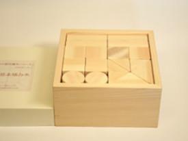 ヒノキの小さな積み木 34個(名前入り)